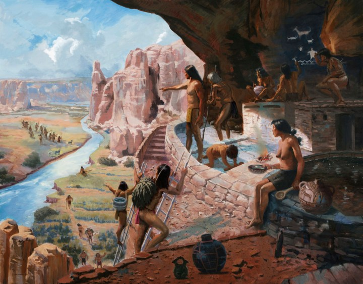People at Mesa Verde in the 1200s CE