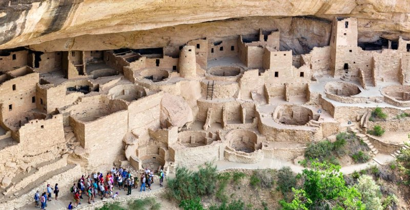 The Cliff Palace at Mesa Verde today