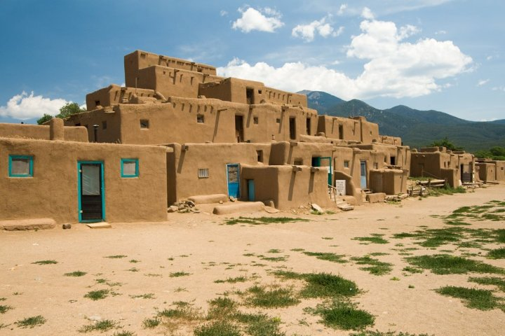 A pueblo village in Taos, New Mexico