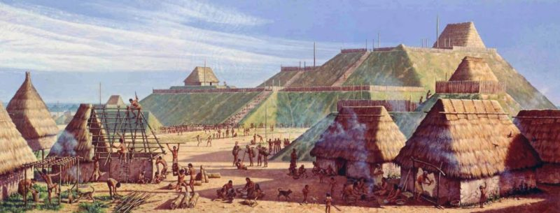 The Mississippian city of Cahokia, in Missouri