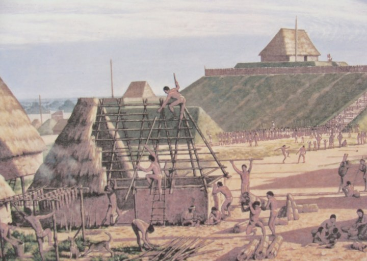 A Mississippian house in the city of Cahokia, in Missouri