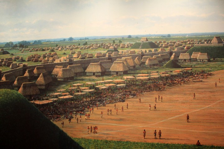 Houses in the city of Cahokia