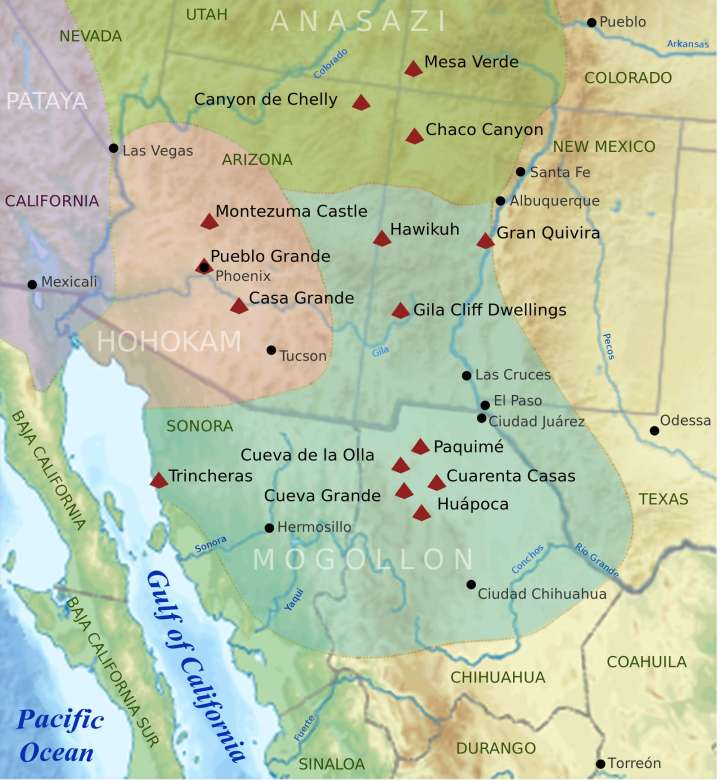 The North American Southwest, circa 1000 CE.