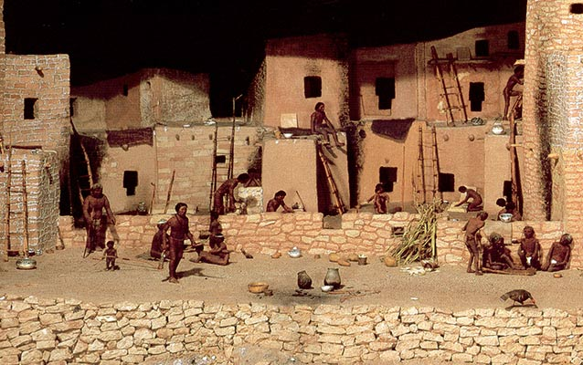 Pueblo houses on the Colorado Plateau
