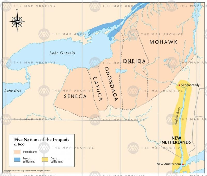 The Haudenosaunee (Iroquois Confederacy) at the peak of their power