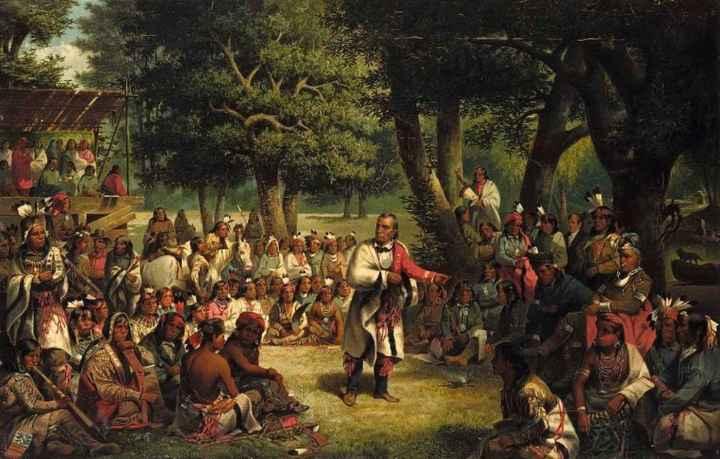 Haudenosaunee (Iroquois) people debate a legal decision