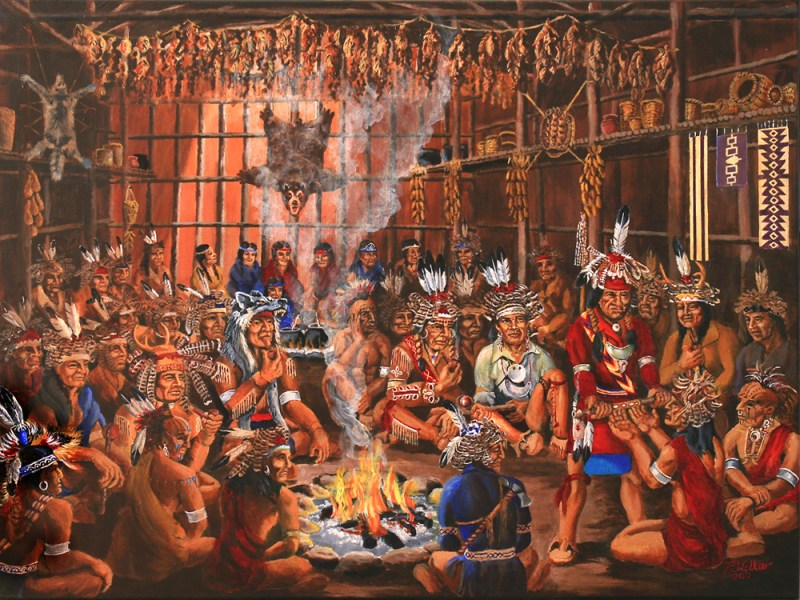 The Grand Council of Iroquois sachems (chiefs)