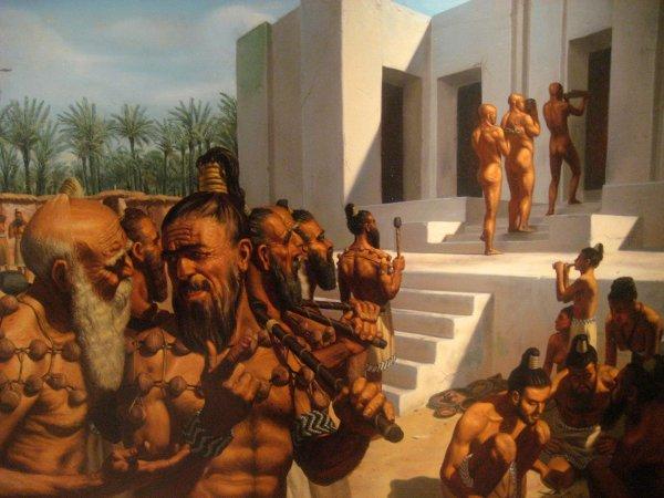 Sumerian men at Uruk