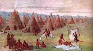 A Comanche city on the Great Plains