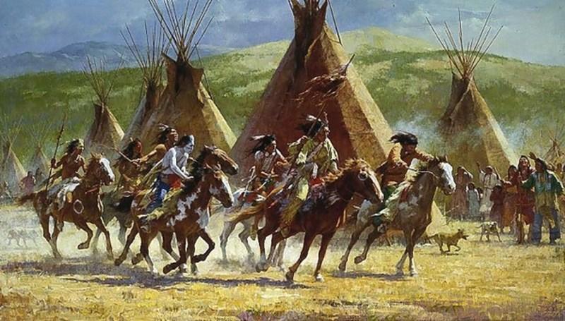 A Comanche war party