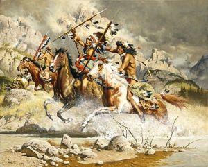 Comanche raiders on the attack