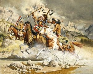 Comanche raiders on the attack