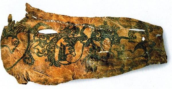 Tattoos on a mummy buried at Pazyryk, Russia