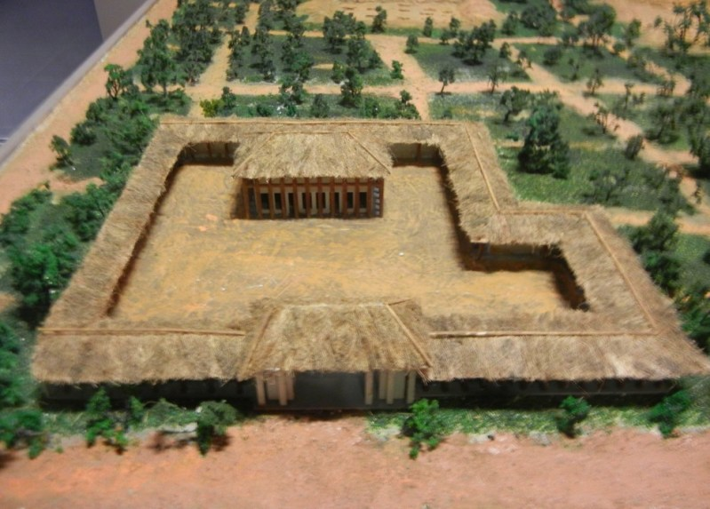 A prehistoric (Xia dynasty?) palace excavated at Erlitou