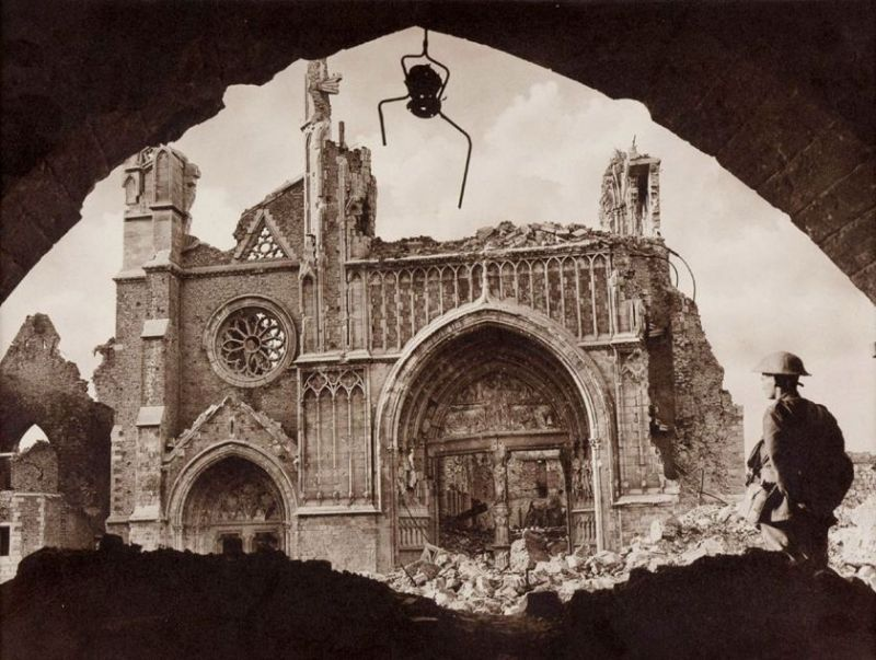 A shattered cathedral (Frank Hurley/National Library of Australia)