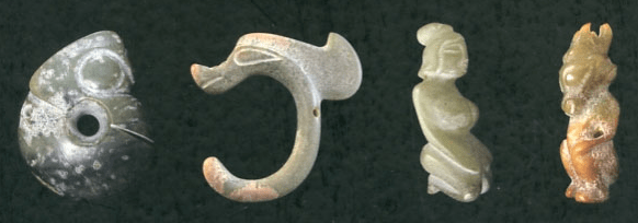 Jade ornaments of the Hongshan culture, circa 3000 BCE