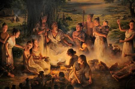 People at Liangzhu, circa 3000 BCE