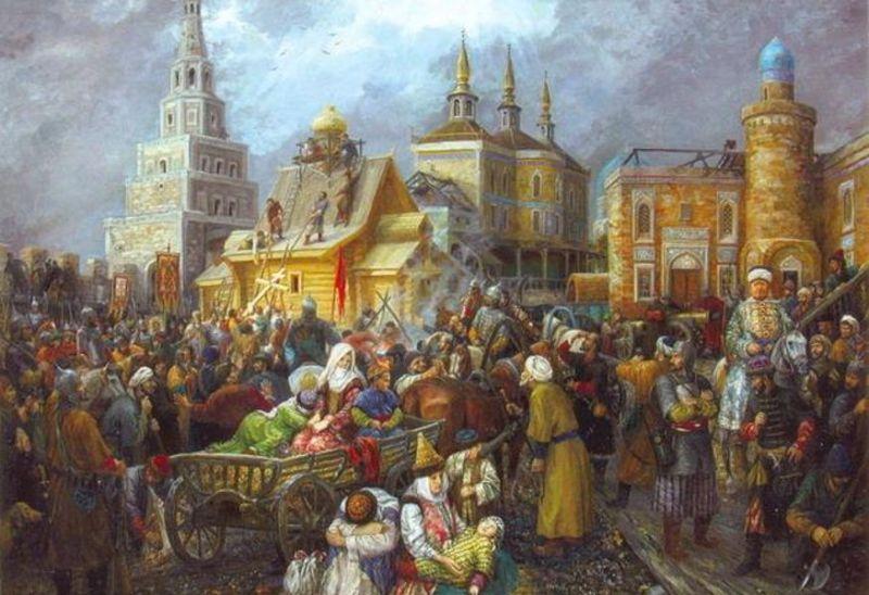 Taş Ayaq bazaar in medieval Kazan