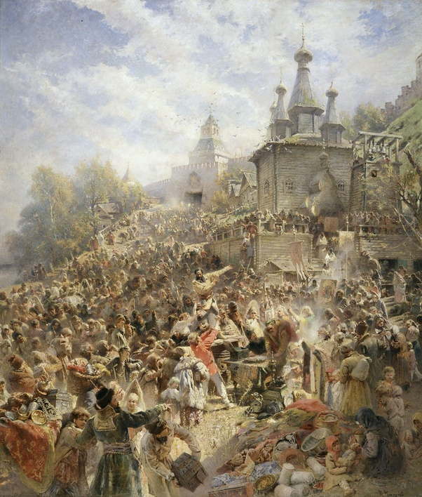 Russian invaders tally up the loot during the Siege of Kazan