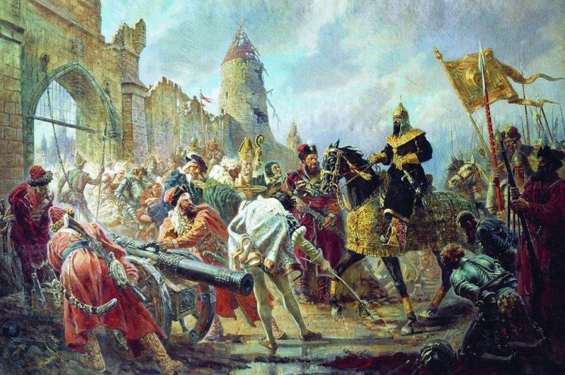 Tsar Ivan the Terrible enters the city of Kazan
