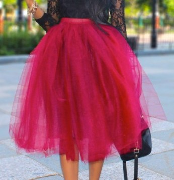 Wine Please! Tulle Skirt