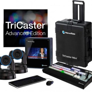 NEWTEK TRICASTER MINI ADVANCED HD-4I WITH 2 PTZ NDI CAMERAS BUNDLE