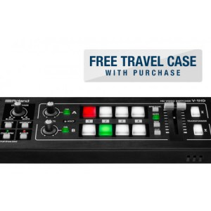 The V-1HD is a compact and portable four channel video switcher