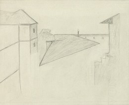 Helmut Gernsheim's drawing of J. N. Niépce's 'View from the Window at Le Gras'. February 20, 1952.