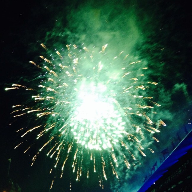 """Chaotic fireworks burst-a kind of """"burnout."""""""