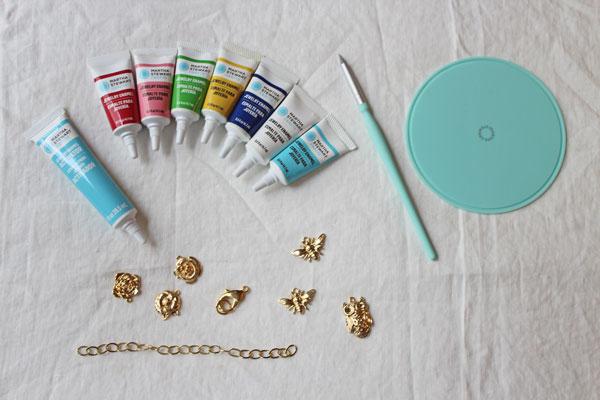 DIY-Enamel-Charm-Bracelet---Supplies