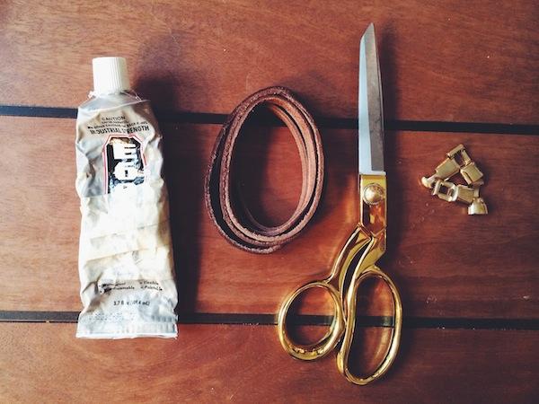 DIY Leather Cuff Materials