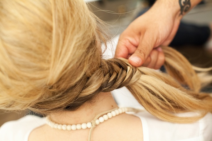 fishtail braid tutorial 19