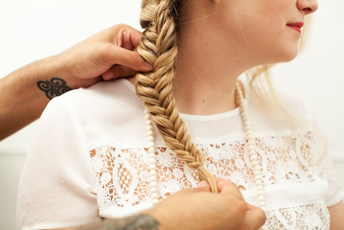 fishtail braid tutorial 21
