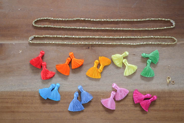 DIY Beaded Tassel Necklace1