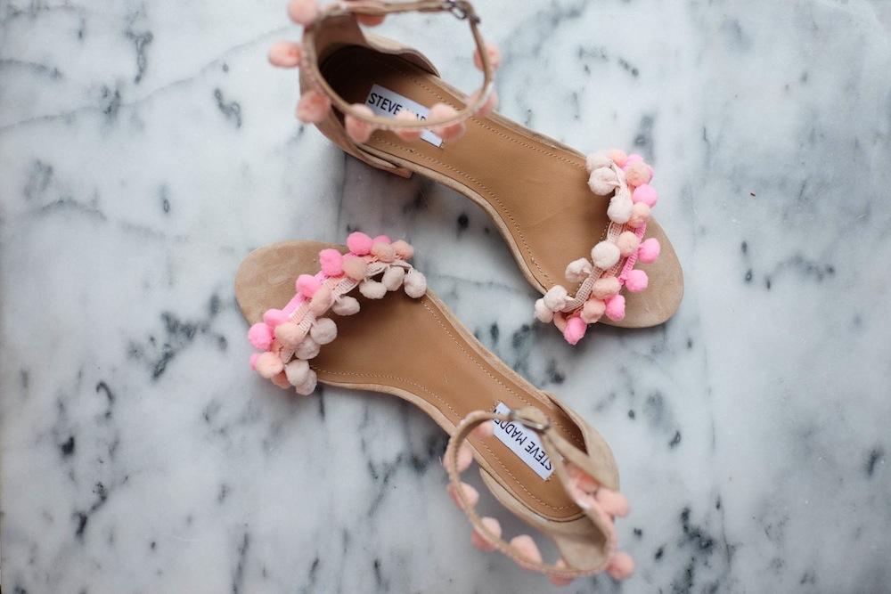DIY Aquazzura Pom Pom Sandals10