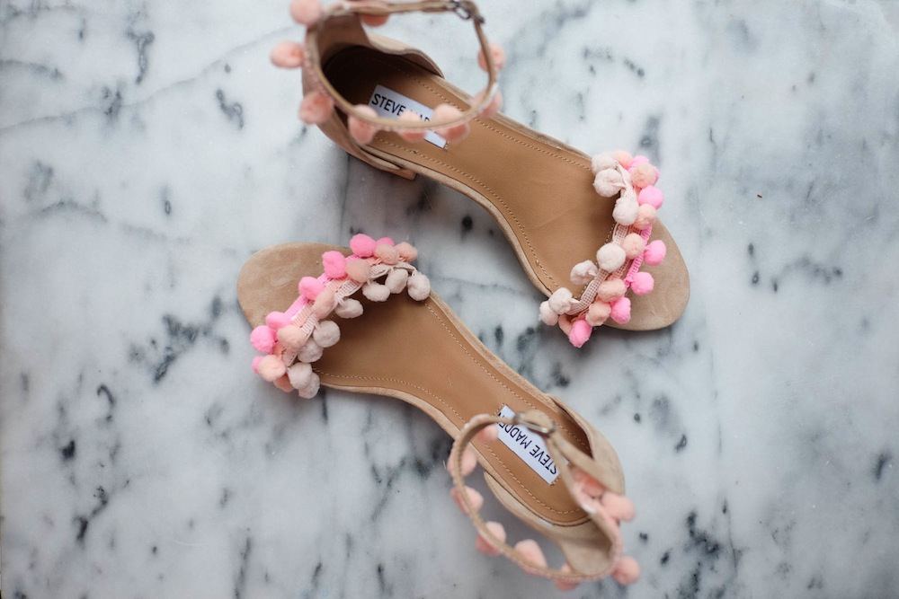 DIY Aquazzura Pom Pom Sandals10