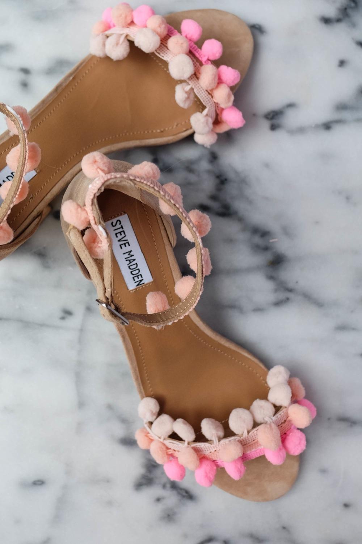 DIY Aquazzura Pom Pom Sandals11