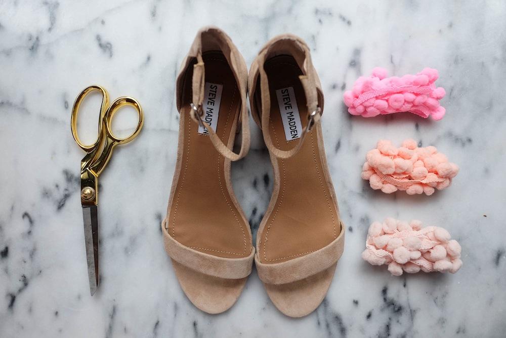 DIY Aquazzura Pom Pom Sandals2