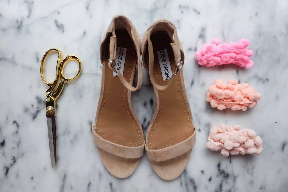DIY Aquazzura Pom Pom Sandals2