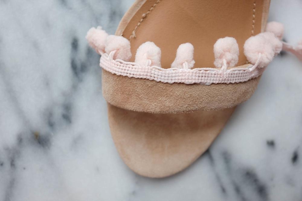 DIY Aquazzura Pom Pom Sandals4