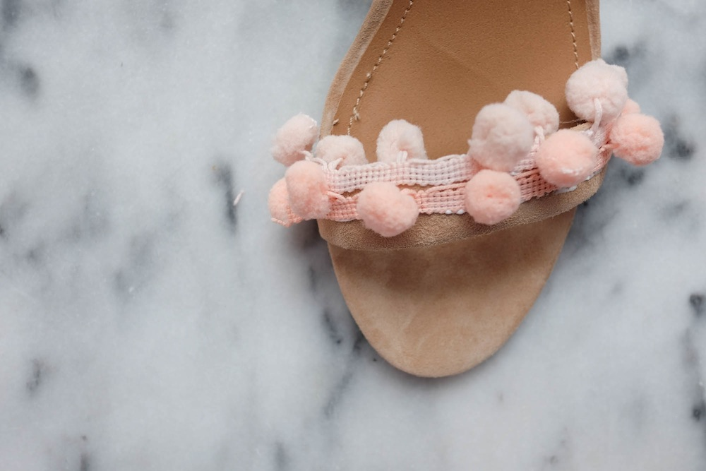 DIY Aquazzura Pom Pom Sandals6