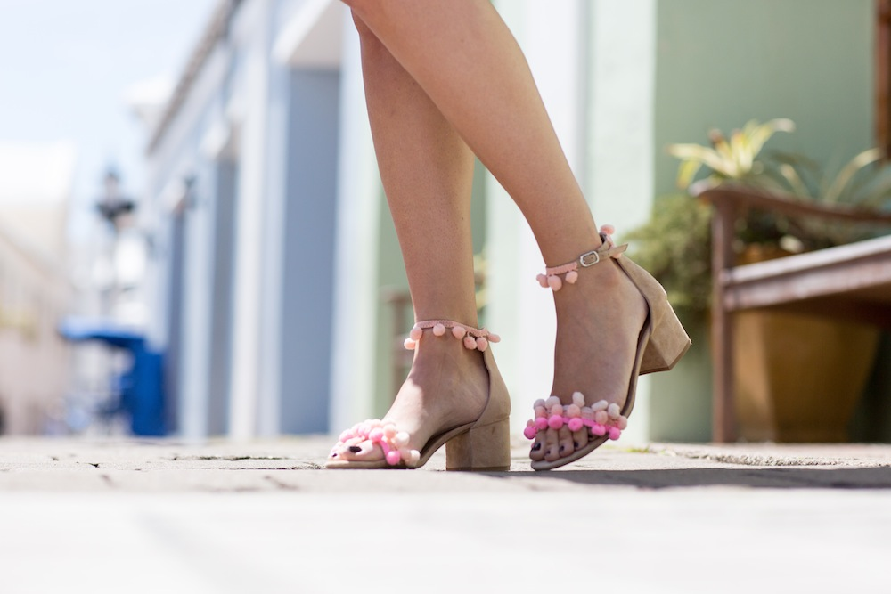 DIY Aquazzura Inspired Pom Pom Sandals