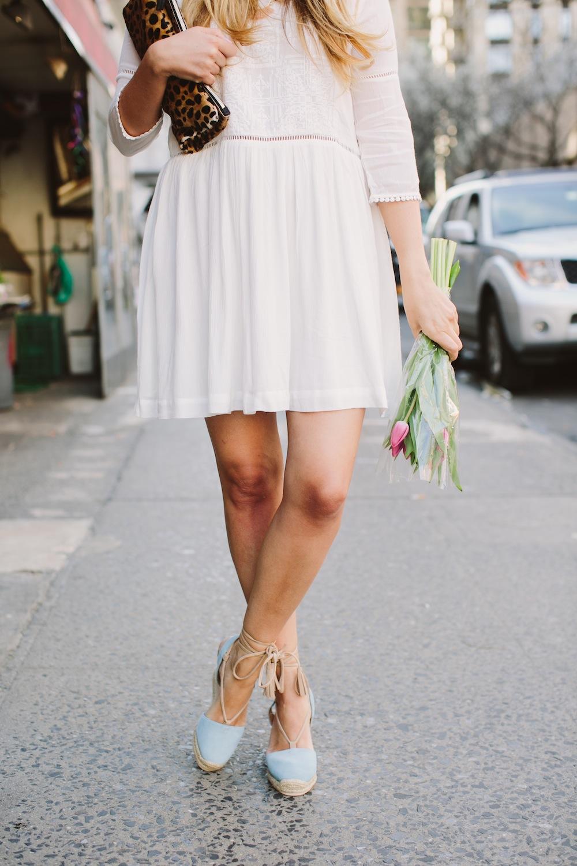 tide washable fashion white lace dress 4