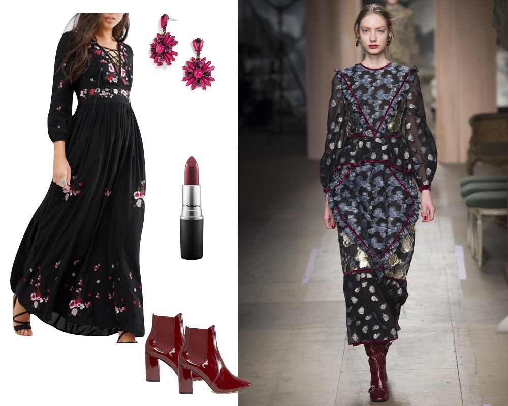 Kelly's Chic Under $100 - Runway Style for Under $100 - Fall 2016 - The Stripe Blog - Inspired by Erdem FW 2016