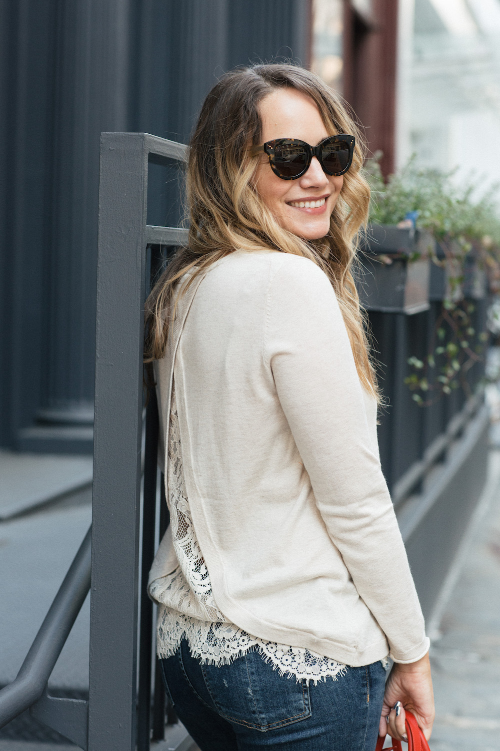 Easy Fall Outfit Ideas: J.Crew Gingham Cape, Joie Marianna Sweater, Rag & Bone Frayed Skinny Jeans - Grace Atwood, The StripeEasy Fall Outfit Ideas: J.Crew Gingham Cape, Joie Marianna Sweater, Rag & Bone Frayed Skinny Jeans - Grace Atwood, The Stripe