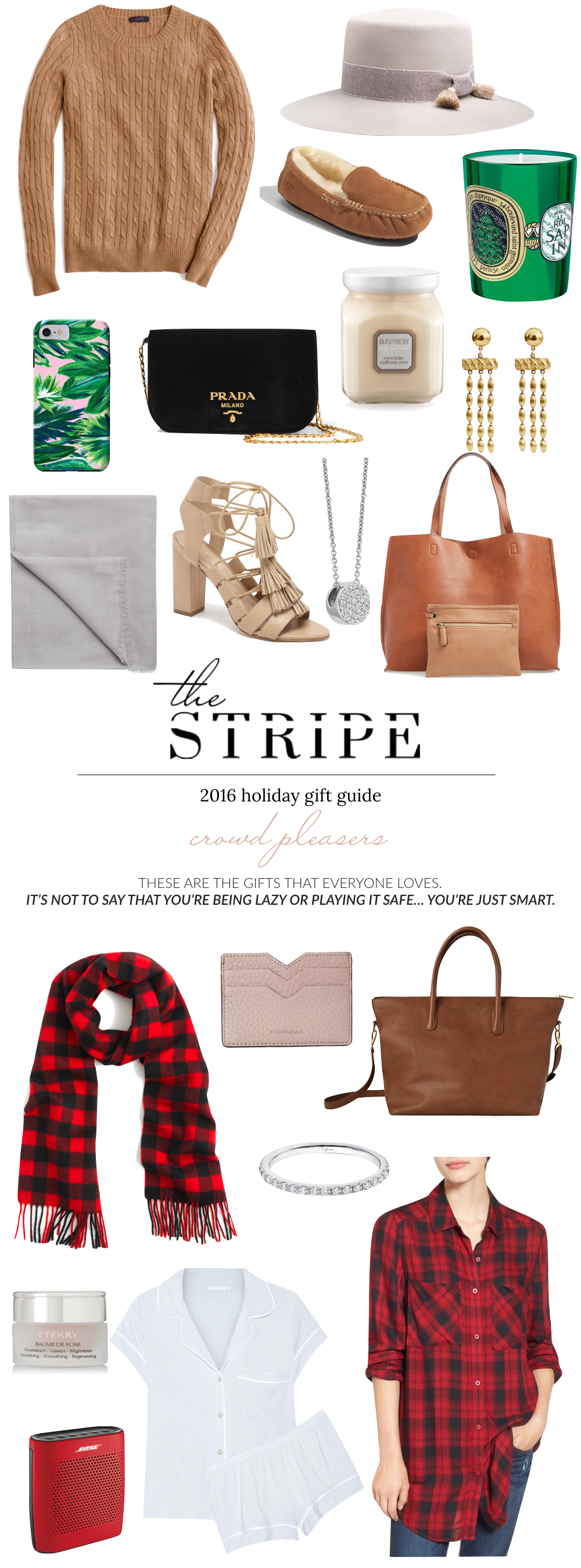 Crowd-pleaser gifts: Gifts that everyone will love! The Stripe | 2016 Holiday Gift Guide.