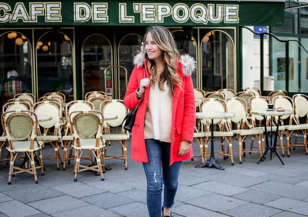 cute + cozy outfit idea for paris | grace atwood, the stripe
