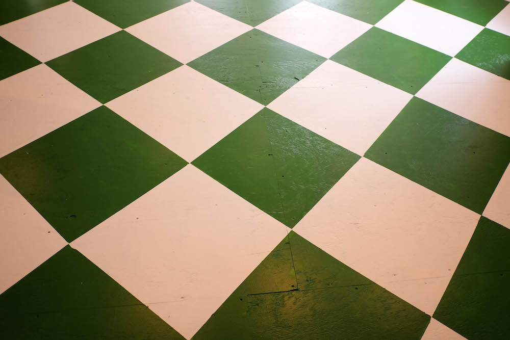 DIY checkerboard floor tutorial | The Stripe