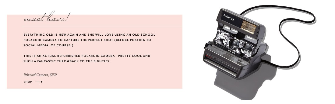 Best Social Media Gifts 2017 - Refurbished Polaroid Camera