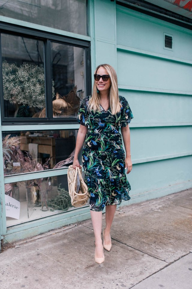 le gali botanical print dress from bloomingdale's | the best dresses for spring | grace atwood, the stripe